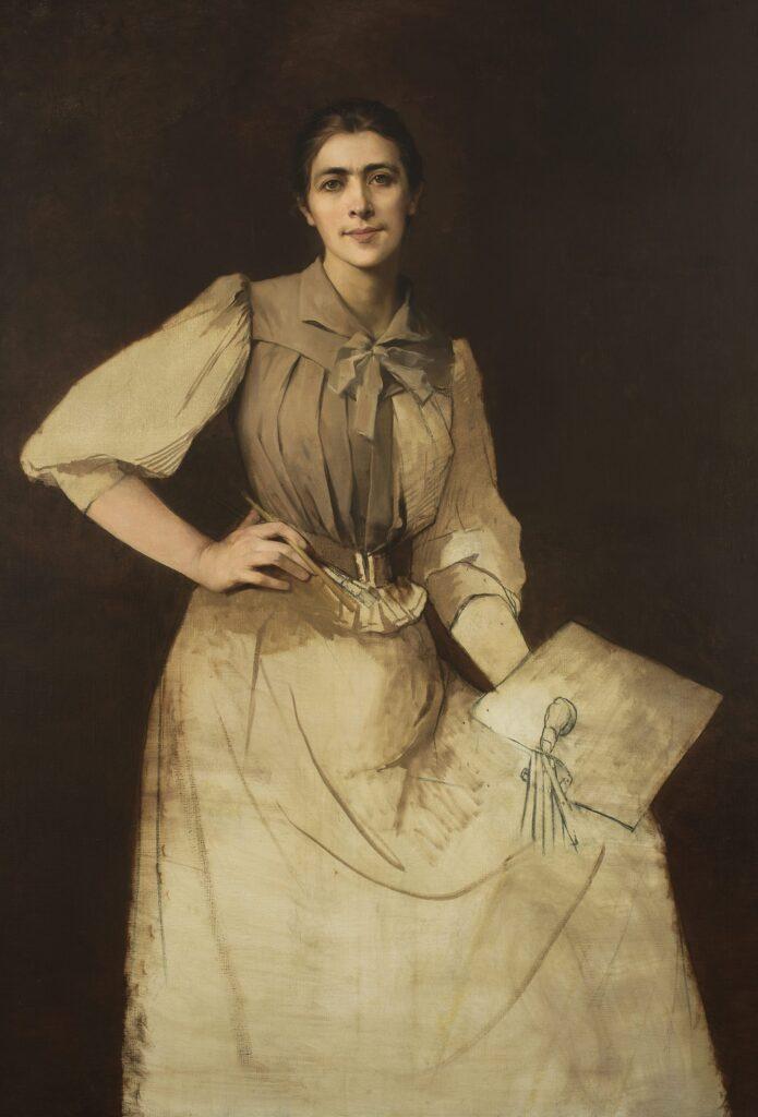 Anna Bilińska, Portret własny, niedokończony